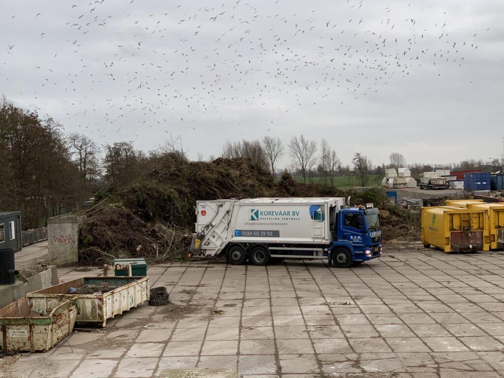 Kraakperswagen Recycling Centrale Korevaar
